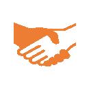 Iconos de saludo de manos